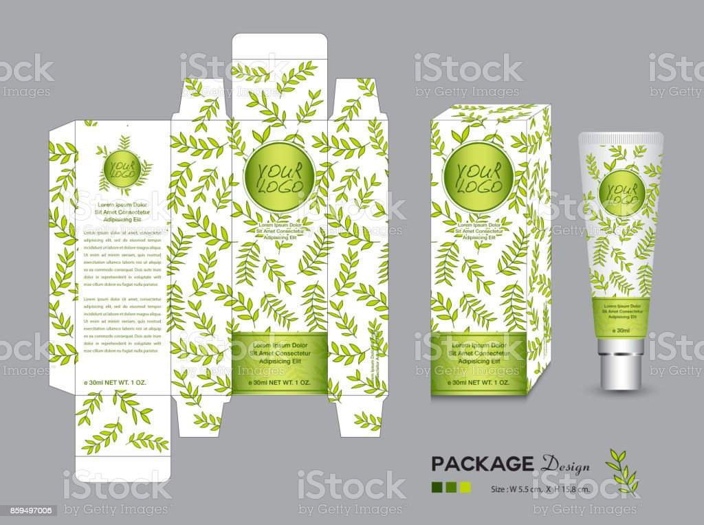 organic packaging template vector illustration package