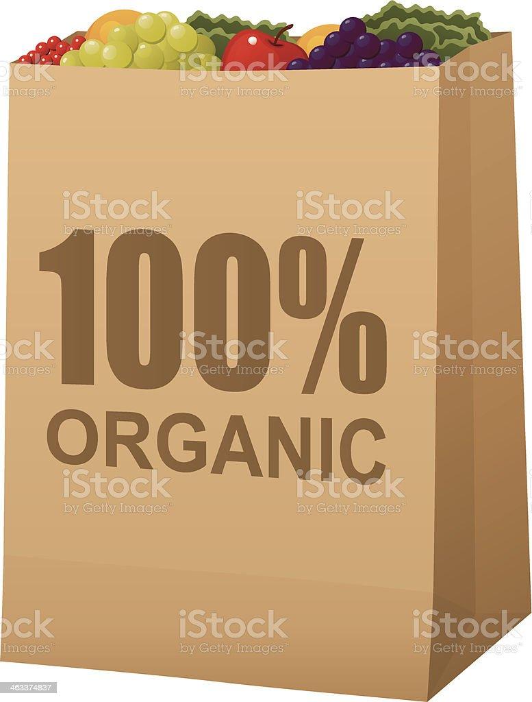 Organic Produce Bag vector art illustration