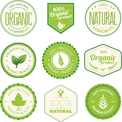 Organic product badges