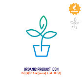 istock Organic Product Continuous Line Editable Icon 1250000331