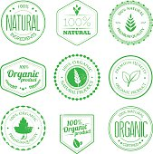 A set of organic product stamps. Stamps and grunge elements are on different layers, can be separated. Aics3 and Hi-res jpg files are included.