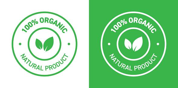 100% Organic Products Badge