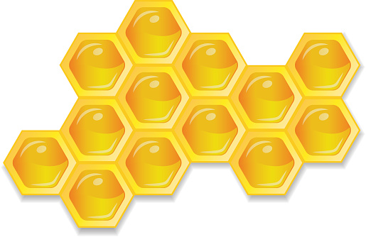 Organic raw honey. Healthy food production