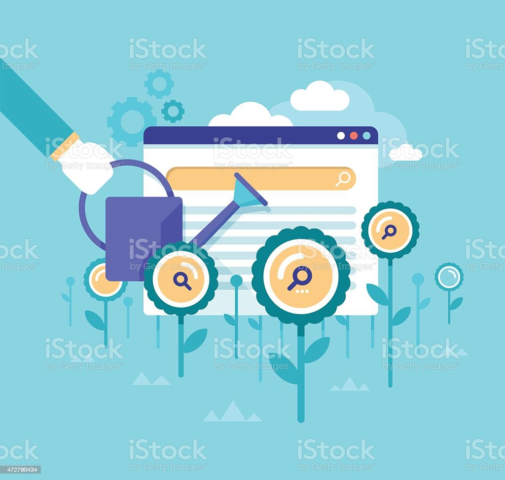 Organic Search Ranking. SEO Concept vector art illustration