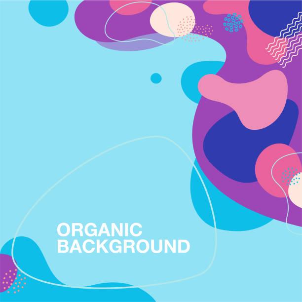 organic shape pattern background vector art illustration