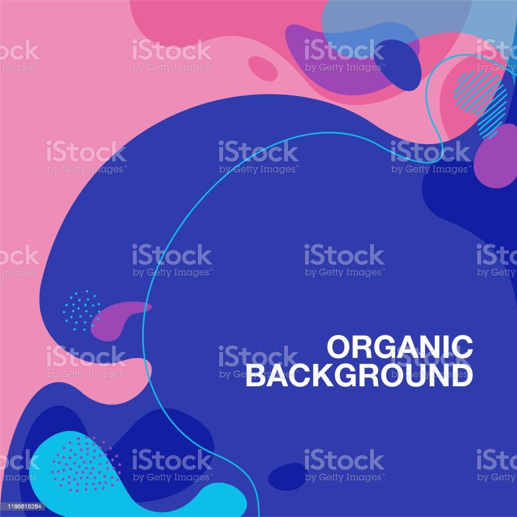 fundo orgânico do teste padrão da forma - Vetor de Abstrato royalty-free