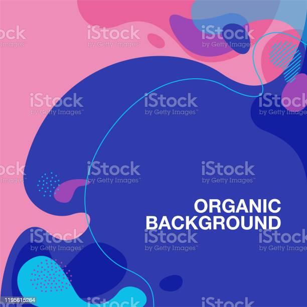 Vetores de Fundo Orgânico Do Teste Padrão Da Forma e mais imagens de Abstrato