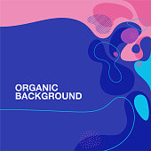 A colorful organic shape pattern background.