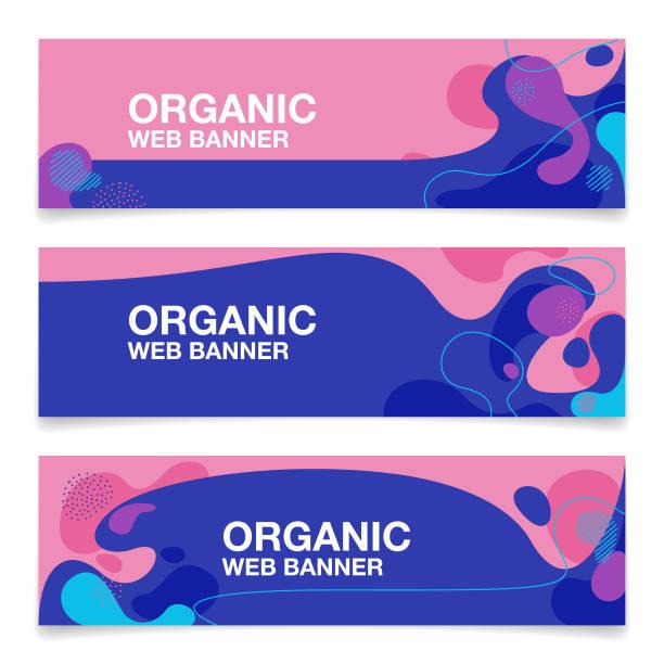 organic shape pattern web banners background vector art illustration