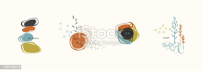 istock Organic Shapes Compositions Set 05 1250195318