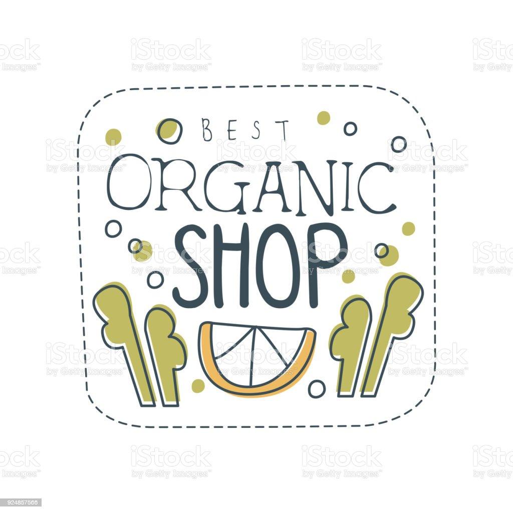 Ilustración de Tienda Ecológica Icono Plantilla Diseño Etiqueta De ...