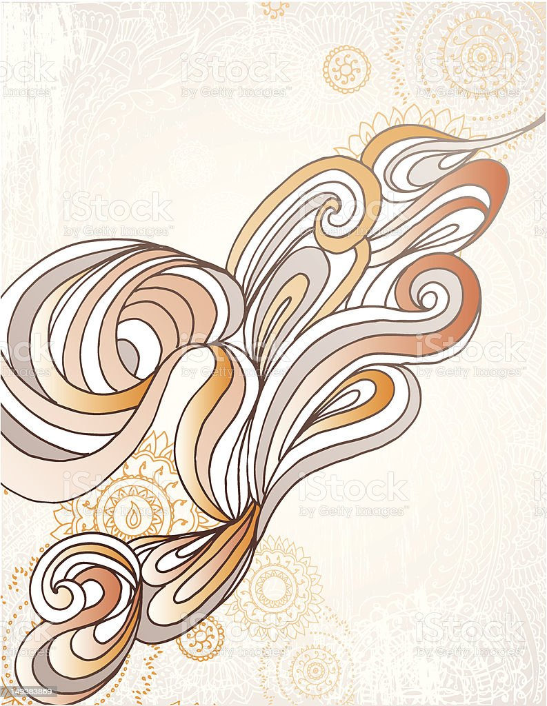 Organic Swirl royalty-free stock vector art