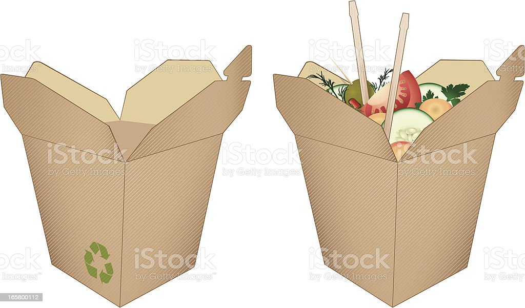 Organic Takeout royalty-free stock vector art