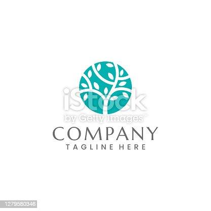 istock Organic Tree Logo 1279580346