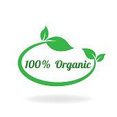 100% organic. eps 10 vector file