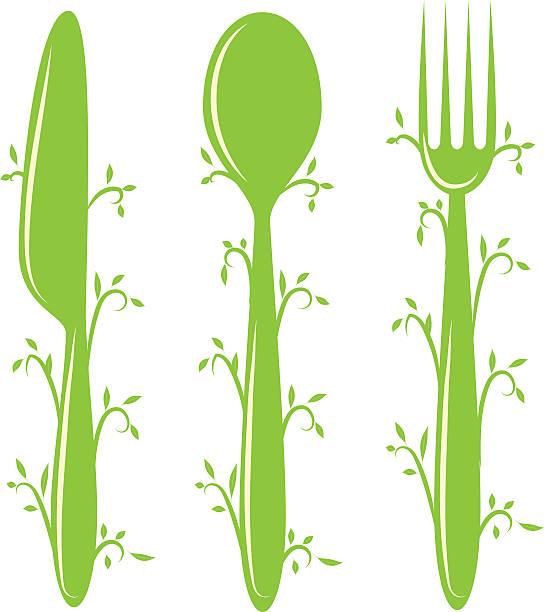 vegeterian bio alimentaire - Illustration vectorielle