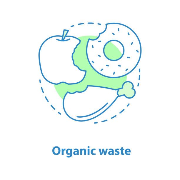 ilustraciones, imágenes clip art, dibujos animados e iconos de stock de icono de residuos orgánico - leftovers