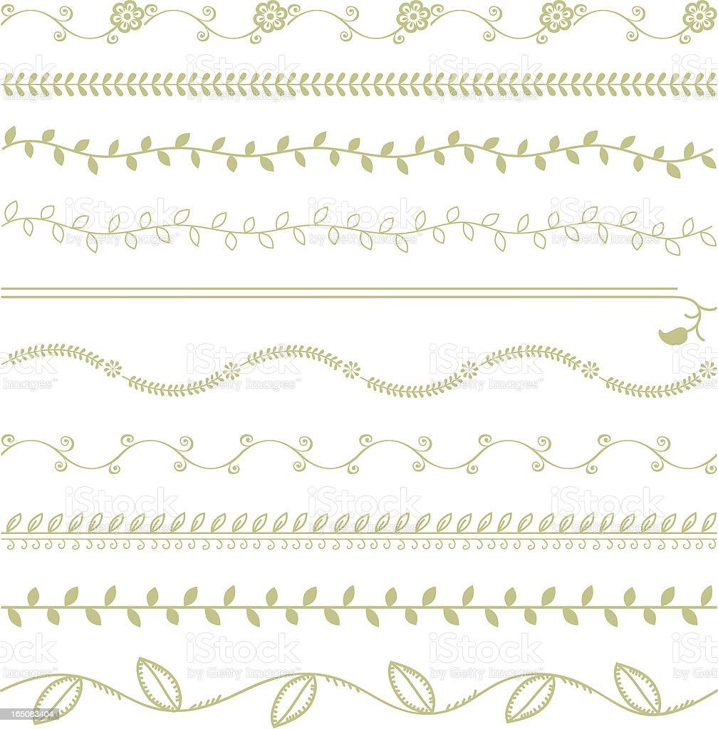Organics - Vines (Vector) vector art illustration
