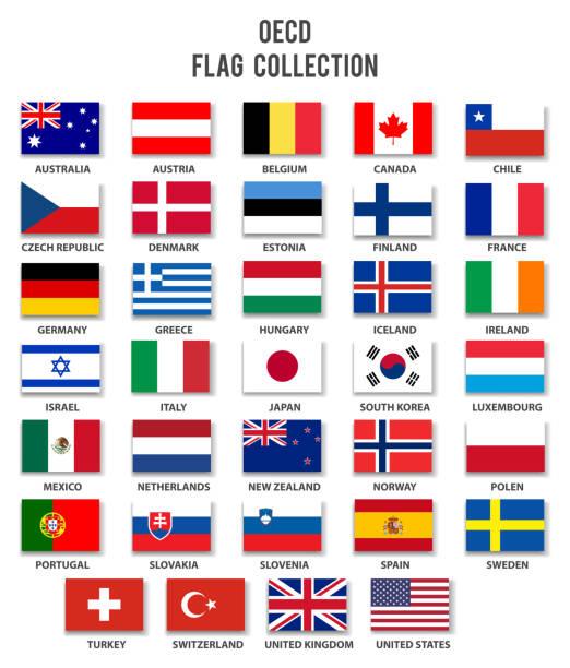 経済協力開発機構の組織の完全な - アイルランドの国旗点のイラスト素材/クリップアート素材/マンガ素材/アイコン素材