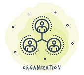 Organisation Line Icon