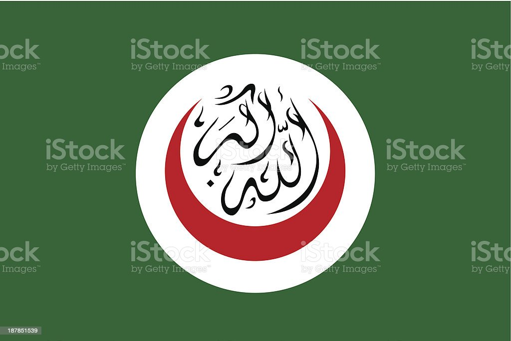Organisation of the Islamic Conference Flag royalty-free stock vector art