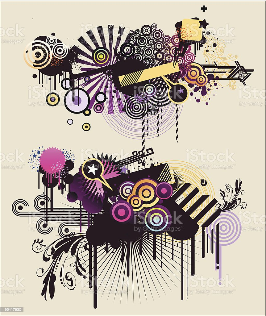 organised chaos royalty-free stock vector art