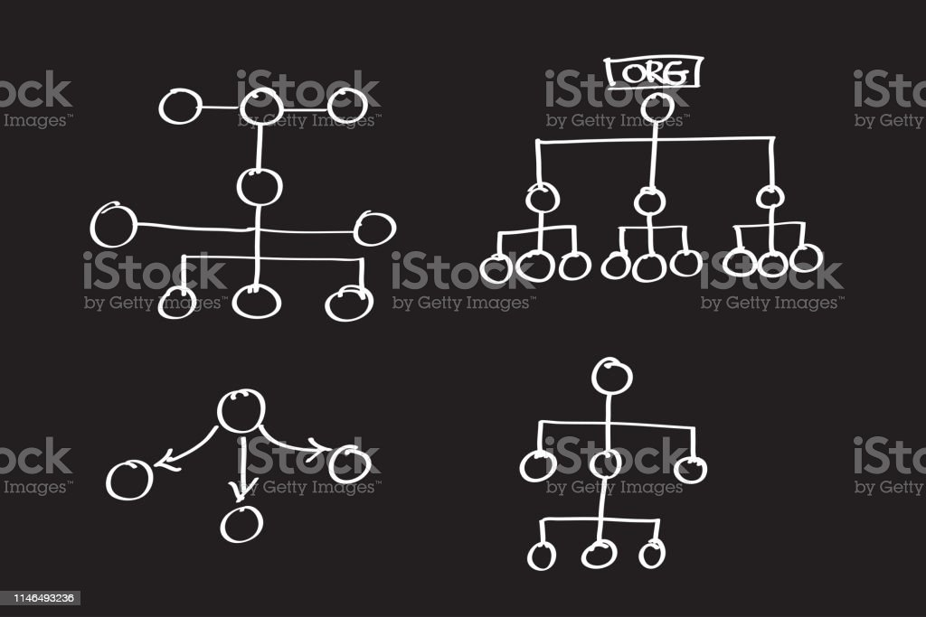 Organization Chart Infographics , vector design