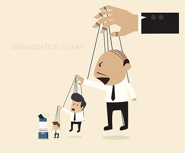 organization chart - old man puppet stock illustrations, clip art, cartoons, & icons