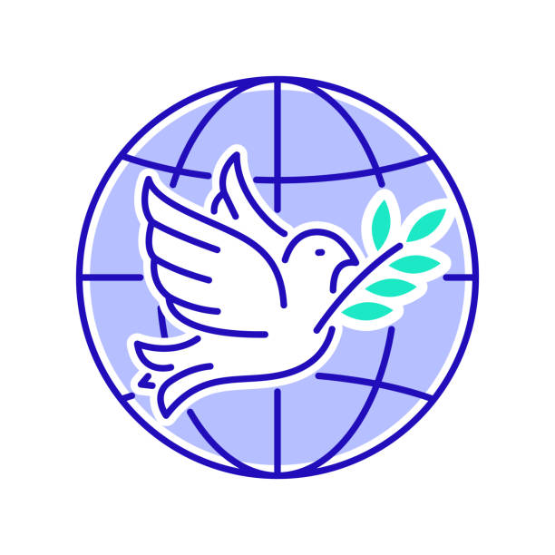 stockillustraties, clipart, cartoons en iconen met pictogram van de organisatie van de ngo-organisatie. non-profit gemeenschap. internationale vrijwilliger. pictogram voor webpagina, mobiele app, promo. - non profit