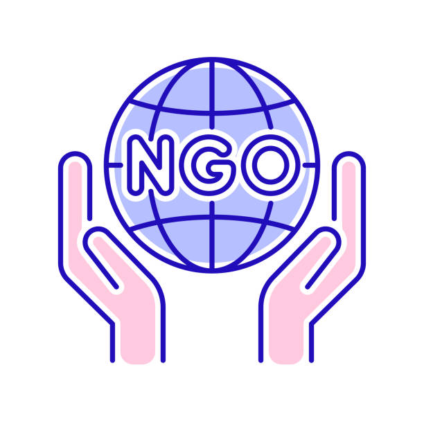 stockillustraties, clipart, cartoons en iconen met pictogram van de organisatie van de ngo-organisatie. non-profit gemeenschap. pictogram voor webpagina, mobiele app, promo. - non profit