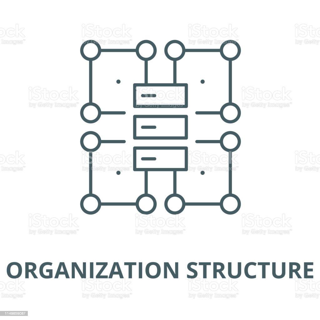 Ilustración De Estructura Organizativa Icono De Línea