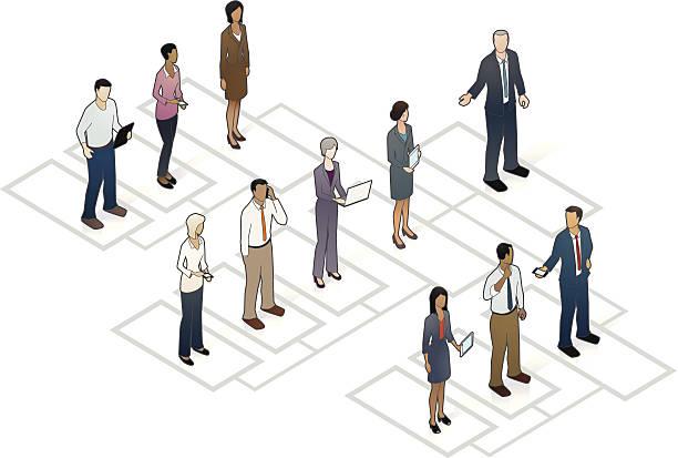 Organizational Chart vector art illustration