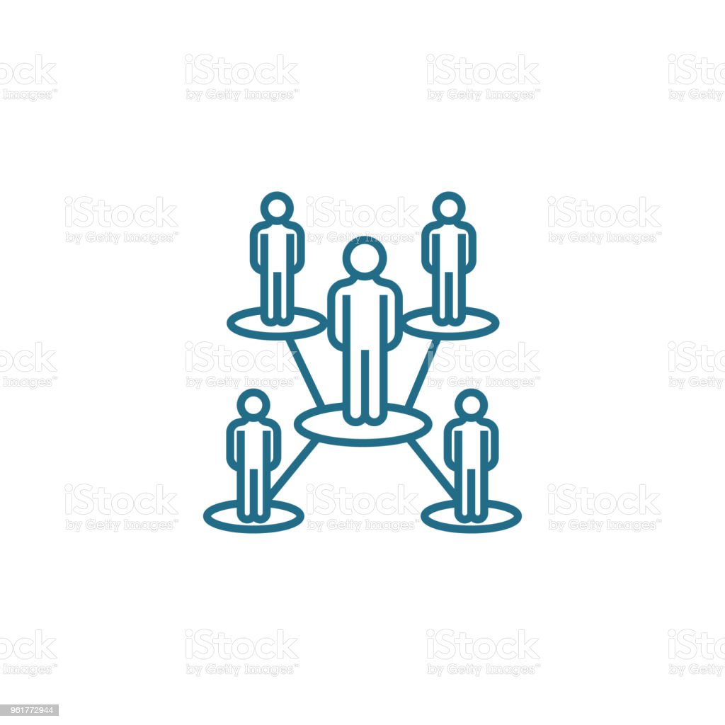 Ilustración De Concepto De Estructura Organizativa Lineal Icono Estructura Organizacional Línea Vector De Señal Símbolo Ilustración Y Más Vectores