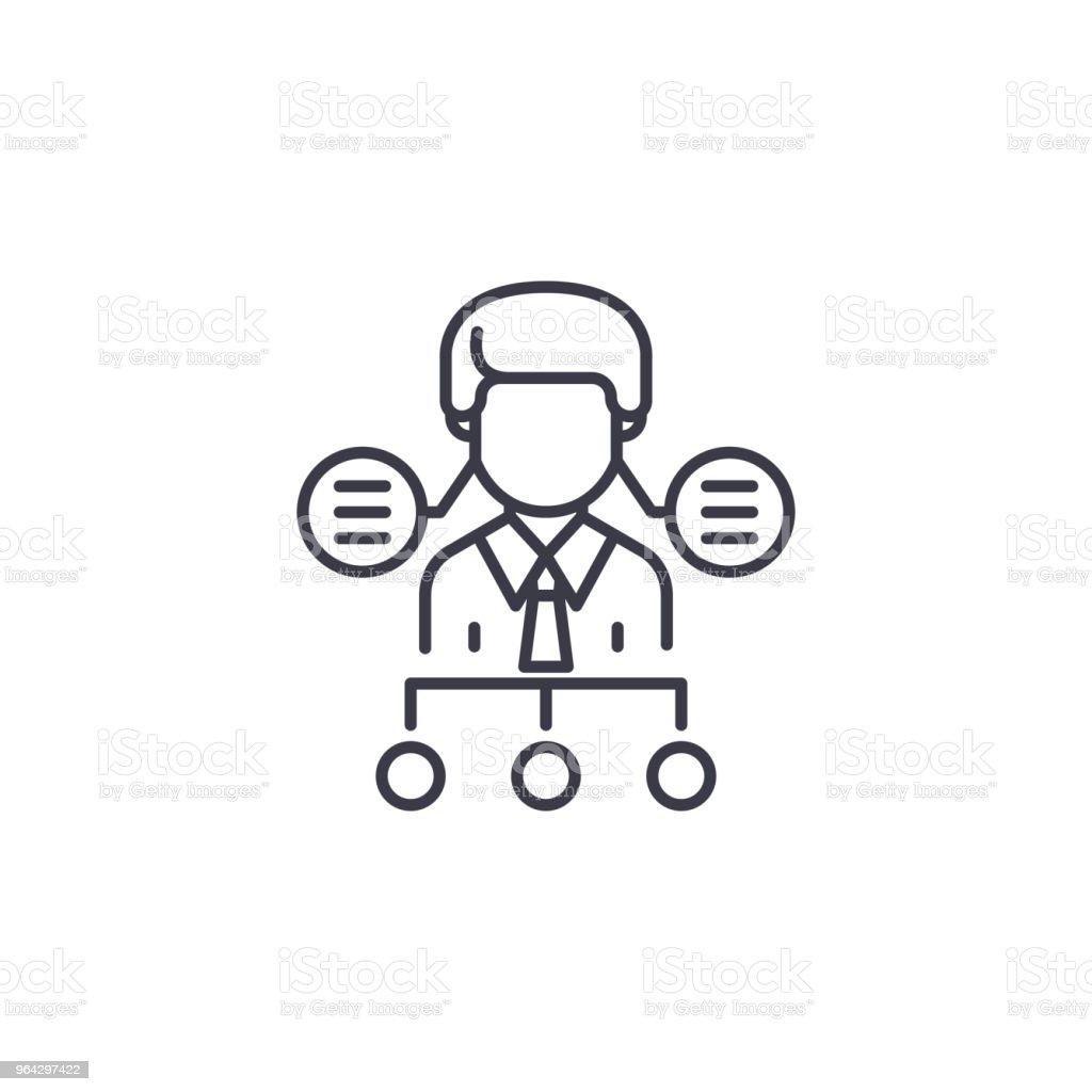 Ilustración De Estructura Organizacional O Recursos Humanos