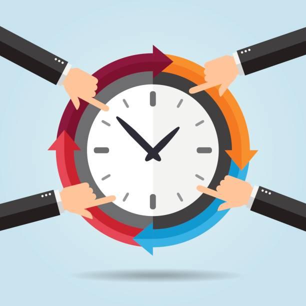 Organizar tiempo - ilustración de arte vectorial
