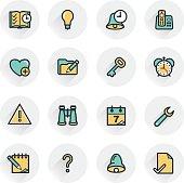Organizer contour icons. Flat design.
