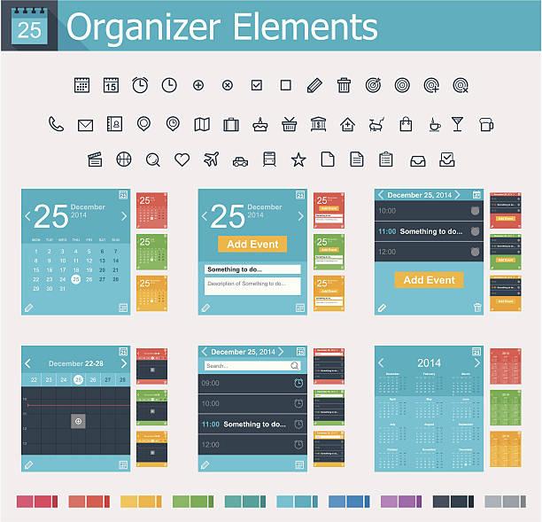 organizer の要素 - トレーニングのカレンダー点のイラスト素材/クリップアート素材/マンガ素材/アイコン素材