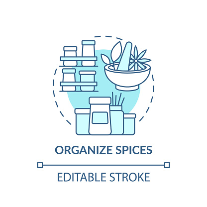 Organizing spices concept icon