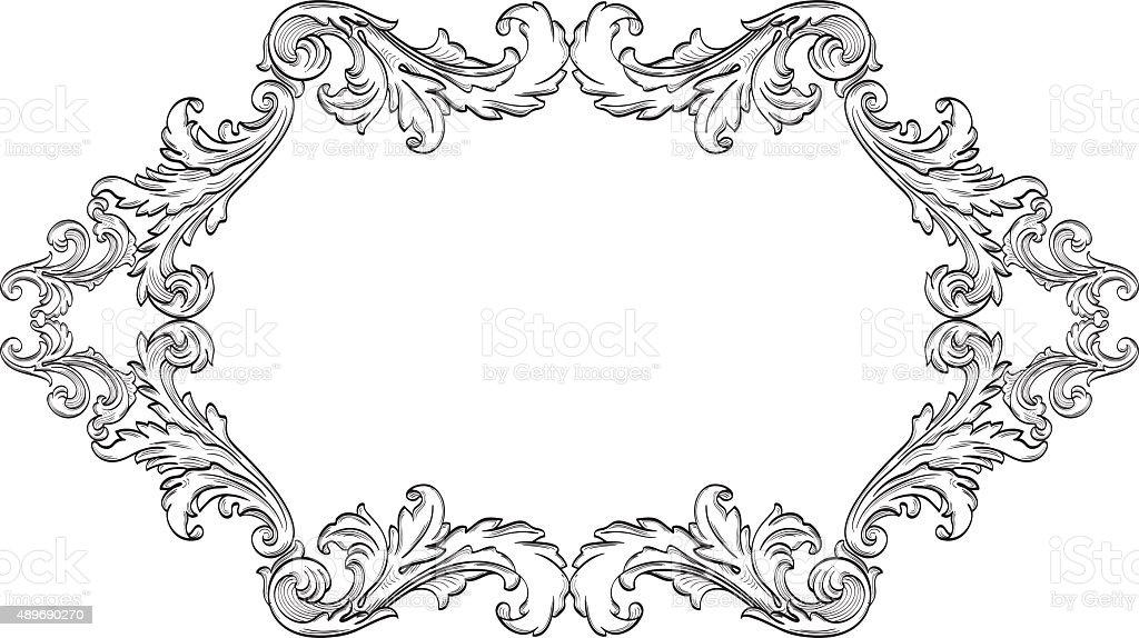 Orient acanthus page vector art illustration