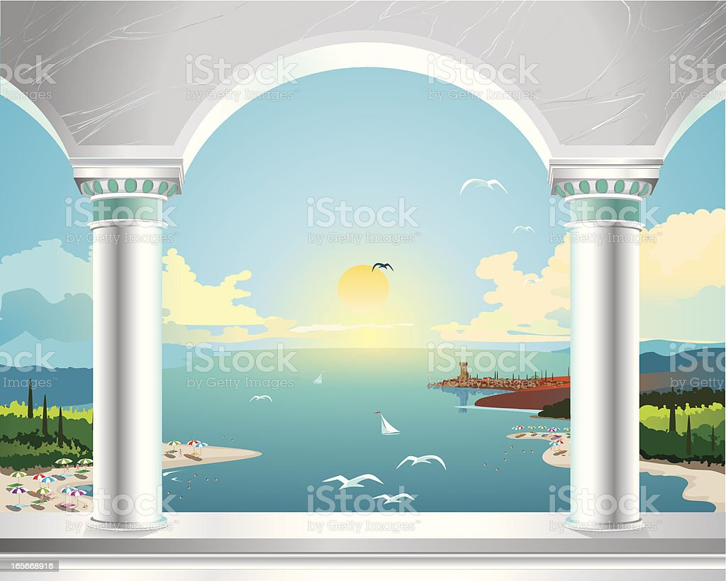 Orient Summer Sun royalty-free orient summer sun stock vector art & more images of backgrounds