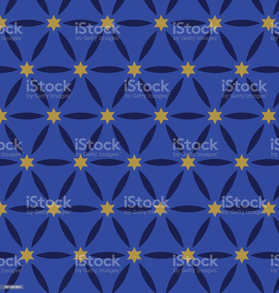 Oriental abstract seamless pattern vector art illustration