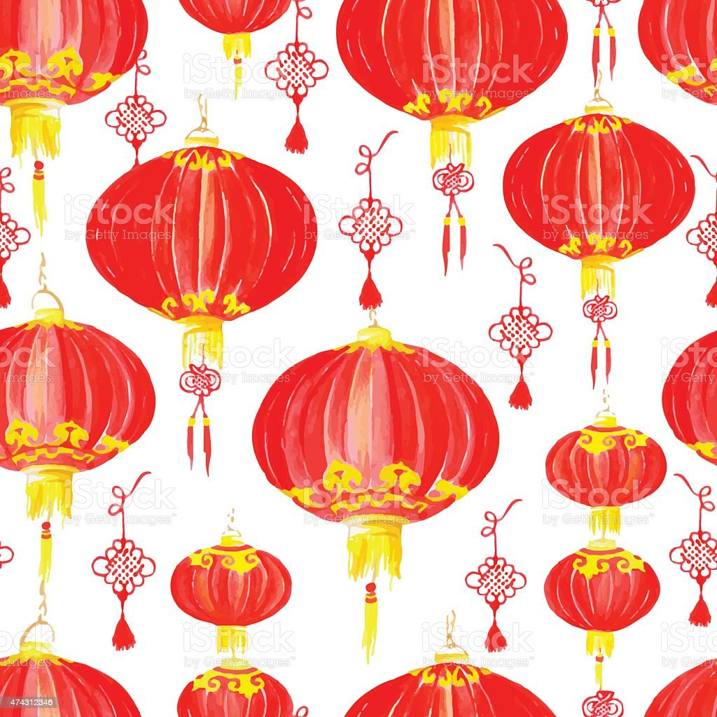 Chinese new year pattern vector