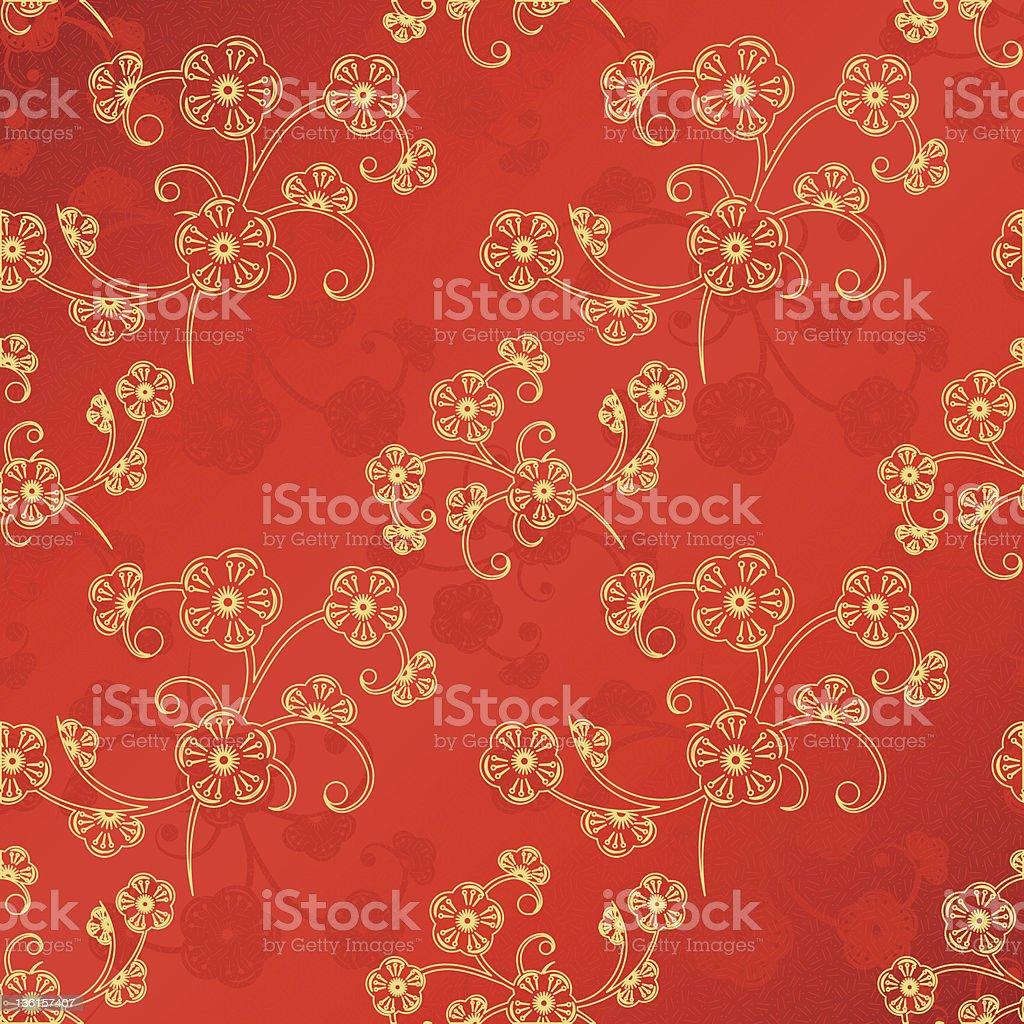 Oriental Chinese New Year seamless pattern vector art illustration