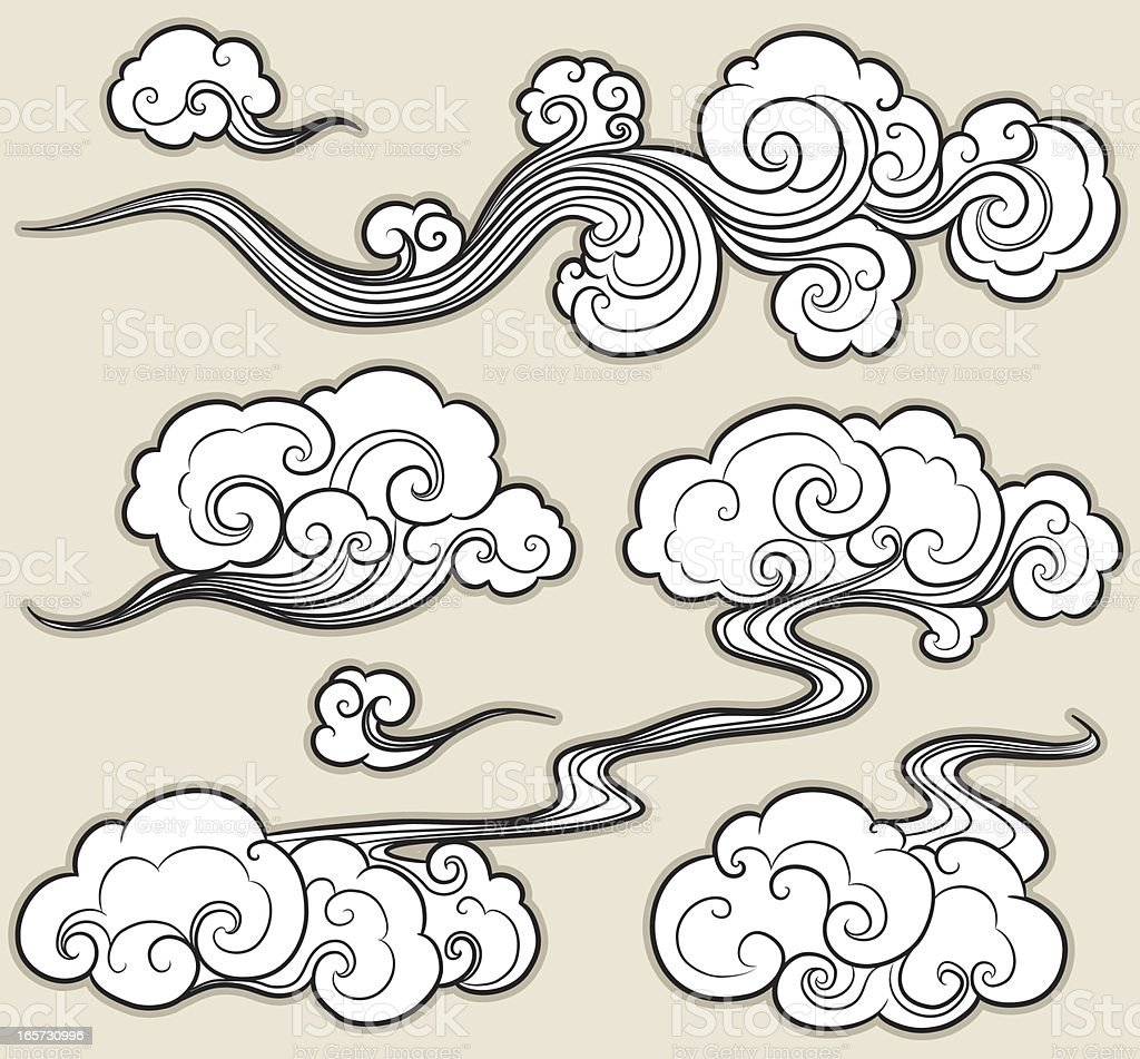 Oriental cloud stock vector art more images of arts for Chinese clouds tattoos