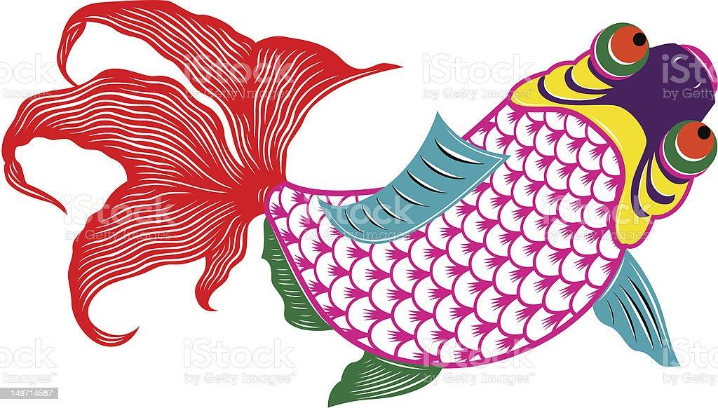 oriental pesci colorati oriental pesci colorati - immagini vettoriali stock e altre immagini di arte royalty-free
