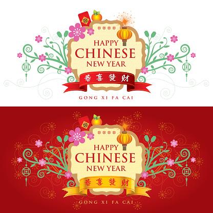 Oriental Decoration Banner