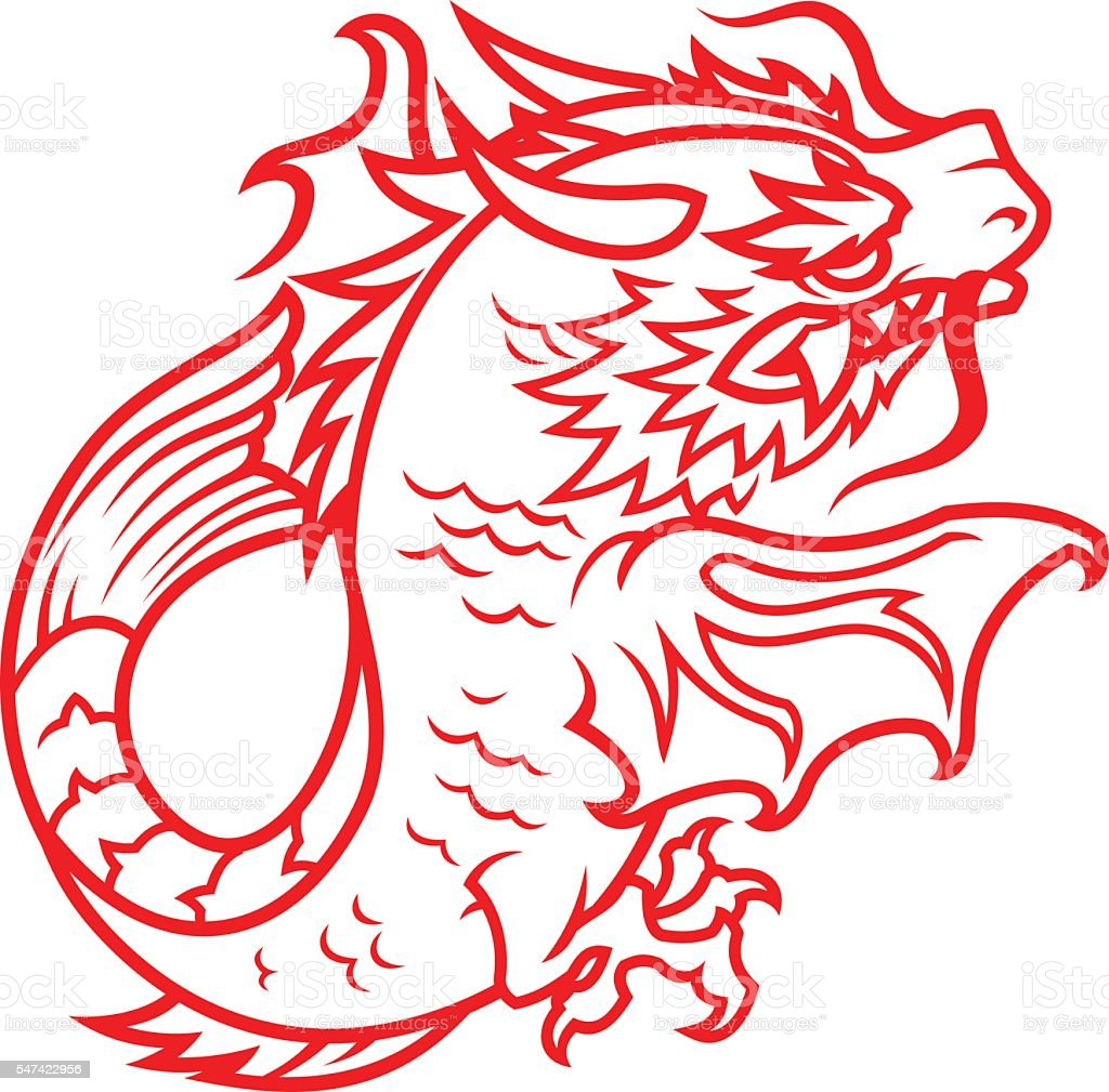 Oriental Dragon Stock Vector Art & More Images of Ancient 547422956 ...