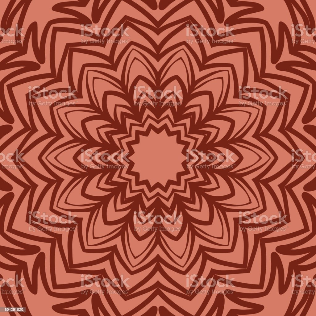 oriental floral pattern. mandala design. vector illustration. hand drawn kaleidoscope background. red brick color royalty-free oriental floral pattern mandala design vector illustration hand drawn kaleidoscope background red brick color stock vector art & more images of arts culture and entertainment