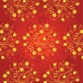 A vector illustration to show oriental floral pattern design