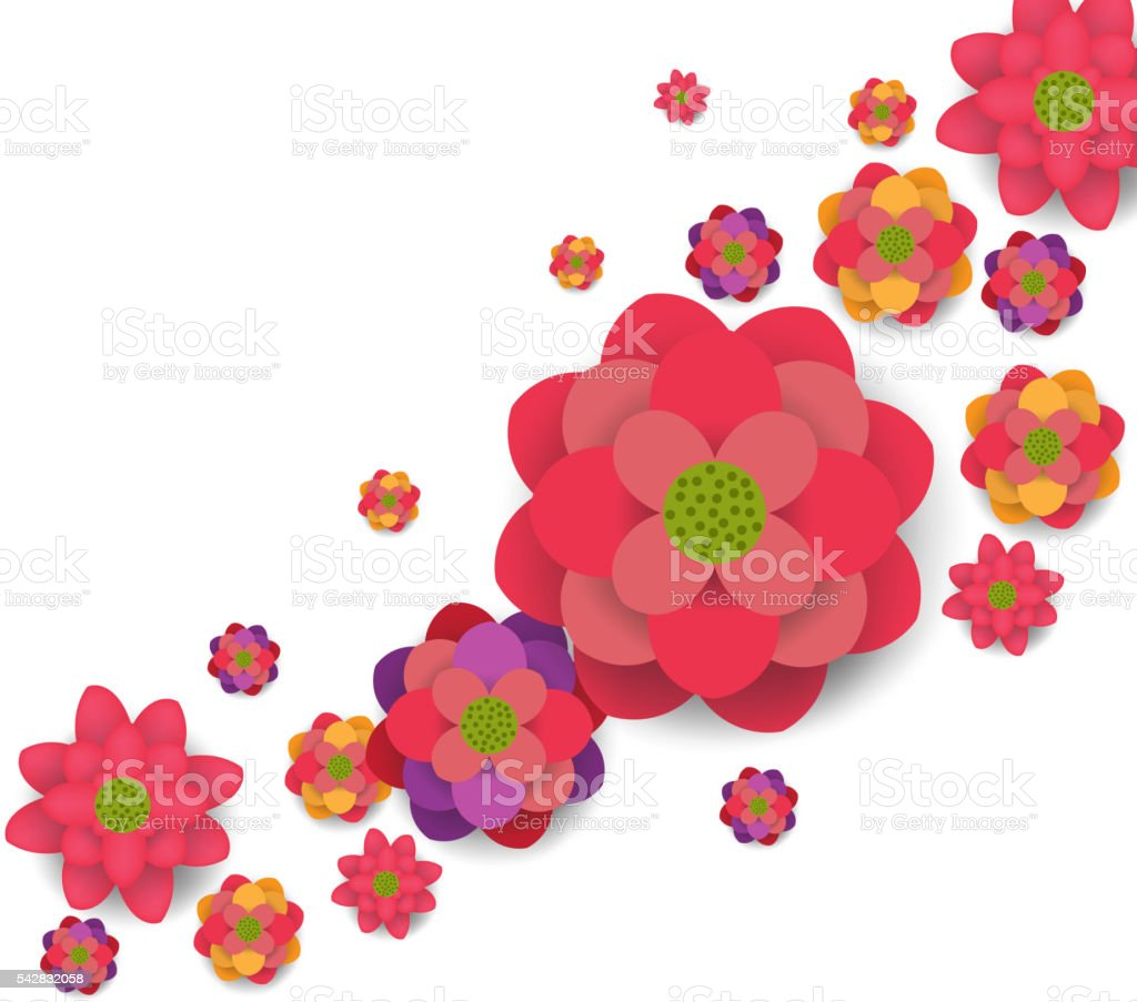 Oriental Happy Chinese New Year Blooming Flowers Design Royalty Free Stock Vector Art